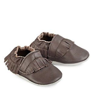Tickle Toes Brown Leather Moccasins